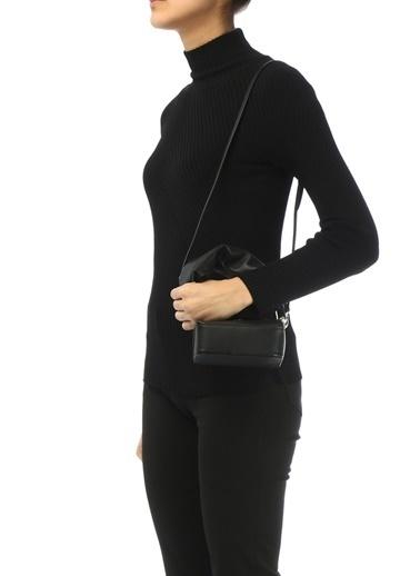 The Sant The Sant Furoshiki 101516562 Çıkarılabilir Omuz ÇıtÇıt Kapatmalı Askılı Kulp Detaylı Deri Kadın Omuz Çantası Siyah
